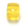 Glass Mini Crowbead 6mm Transparent Yellow